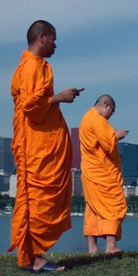 lo_and_behold-texting-monk-column-200