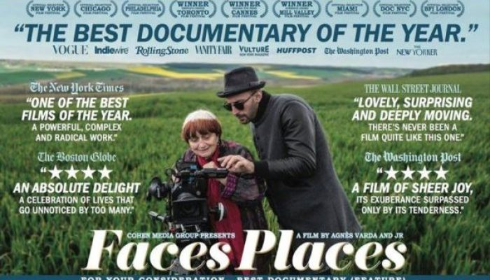 FACES PLACES - Tuesday 23 October 2018 at 7.30pm