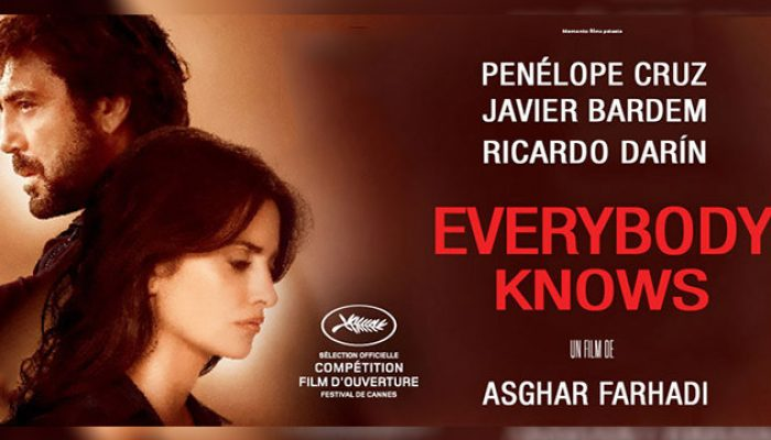 EVERYBODY KNOWS - Thursday 25 April 2019 at 2.30pm and 7.30pm