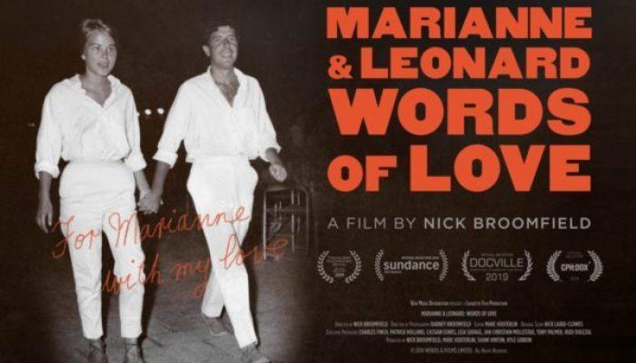 MARIANNE & LEONARD: WORDS OF LOVE - Wednesday 25 September 2019 at 7.30pm